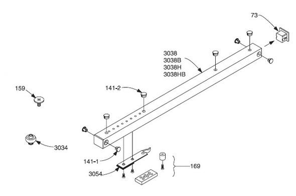 LCN 2030-3034 Track Roller Replacement for Door Closer