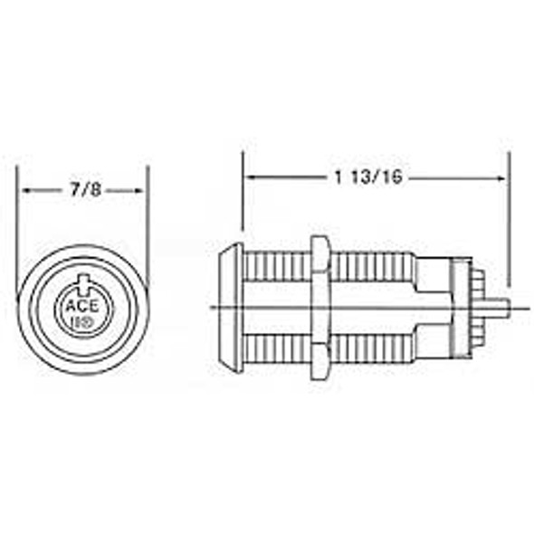 Compx Chicago C4073-70DC Switch Lock, Spring-Loaded KD