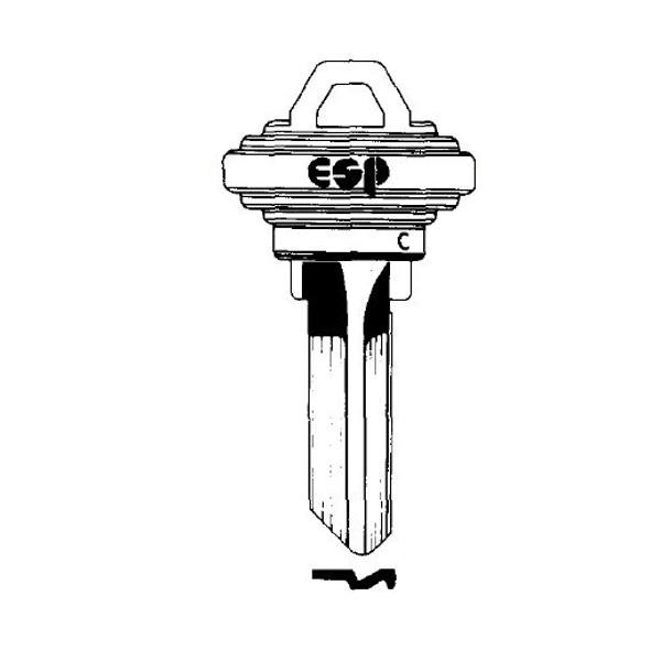 ESP SC1 Key Blank, 5-Pin Brass