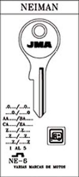 Key blank, JMA NE6 for Neiman