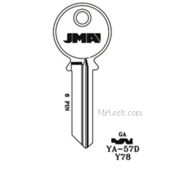 JMA YA-57D Key Blank for Yale GA 6pin 998GA,Y78