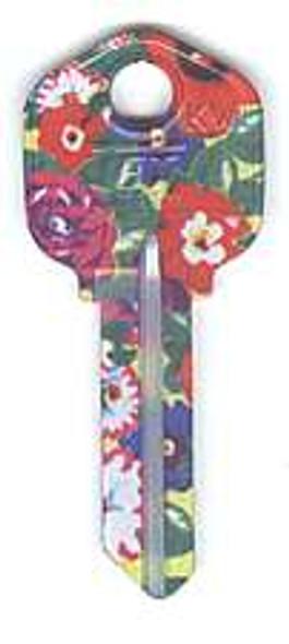 Key blank, Groovy KW1 Floral Burst