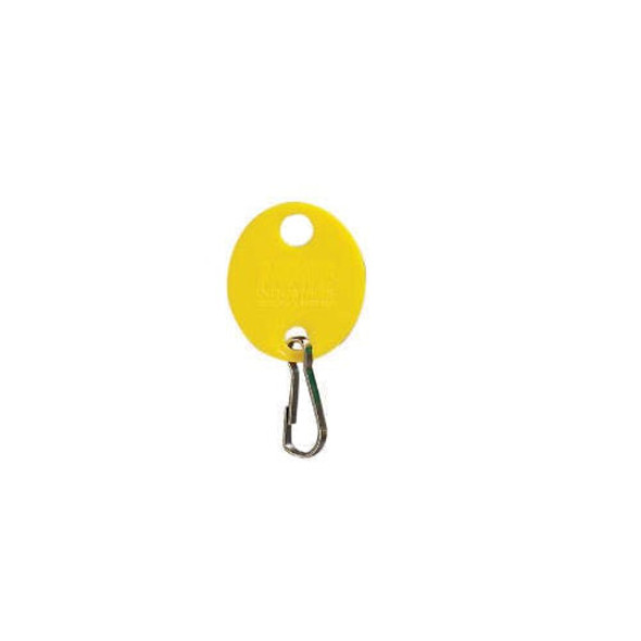 MMF 201800912 Yellow Oval Key Tag 20pk