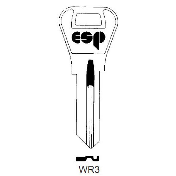 ESP WR3 Key Blank for Weiser