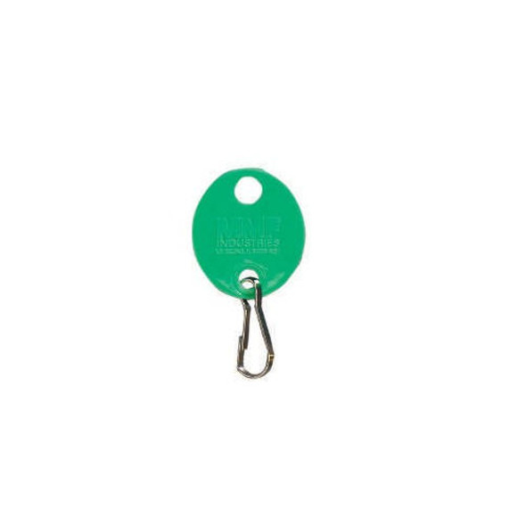 MMF 201800902 Oval Green Plain Key tag, 20-Pack