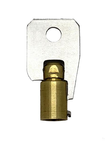 Jet 137B Key Blank, Tubular Steel/Brass