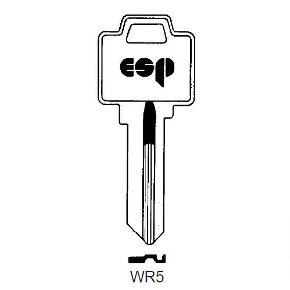 ESP WR5 Key Blank for Weiser