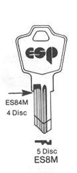 Key blank, ESP ES84M 4 Wafer (M)