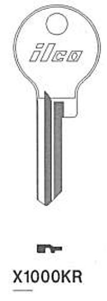 Key blank, Ilco X1000KR Corbin