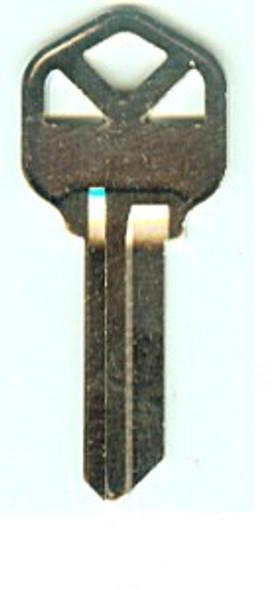 JMA KWI-1KE-NP Key Blank for Kwikset KW1, Nickel Plated