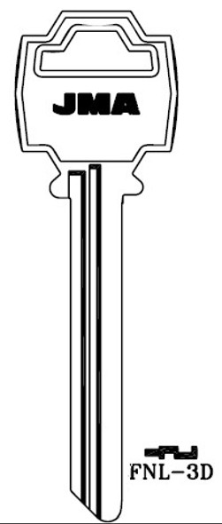 JMA FNL-3D Key Blank for Fanal Gate Lock (Long)