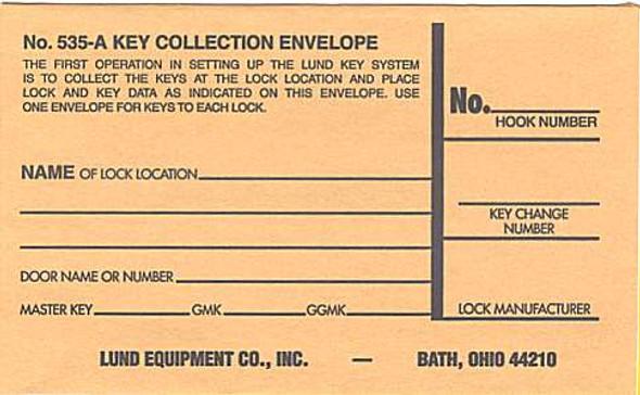 Lund 535A Key Envelope 100PK