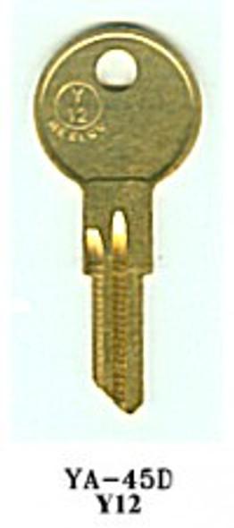 Key blank, JMA YA45DE for Yale Y12