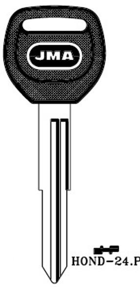 JMA HOND-24.P Key Blank for Honda X265 (RH)