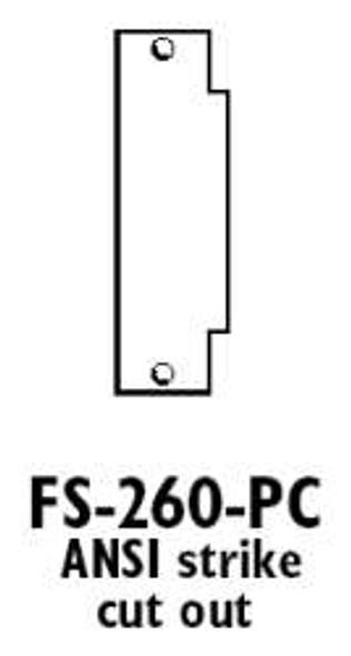 Don-Jo FS-260-PC Frame Filler Plate,  for ANSI Strike Prime Coat