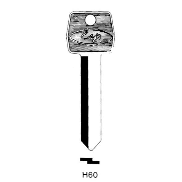 ESP H60 Key Blank, Ford Long 10-Cut