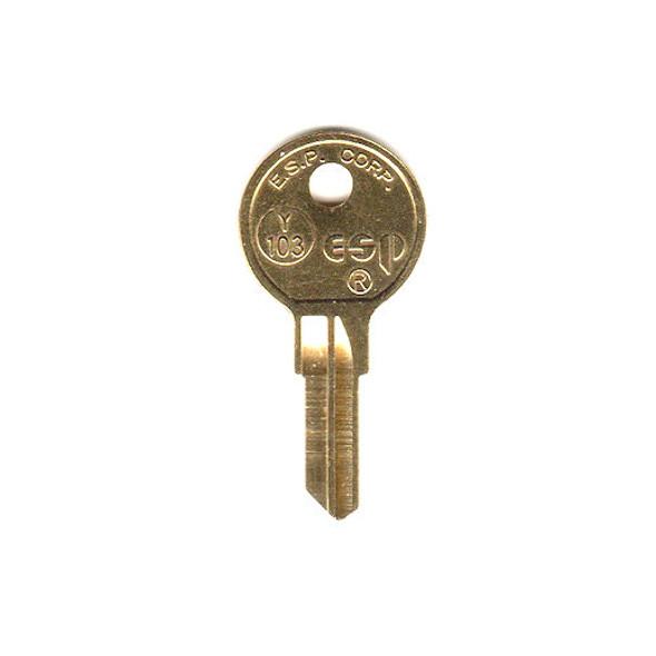 Key blank, ESP Y103/O1122B