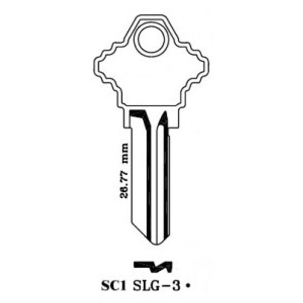 JMA SLG-3E Key blank, SC1