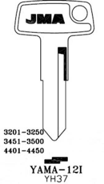 Key blank, JMA YAMA12I for Yamaha YH37