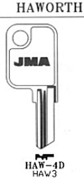 JMA HAW4D Key Blank for Haworth HK3