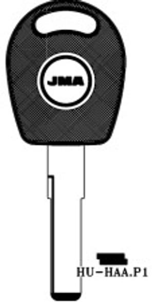 Key blank, JMA HUHAAP1 for Volkswagon (RH)