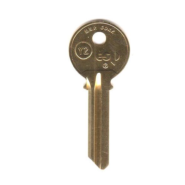 ESP Y2 Key Blank for Yale 8, 6-Pin 999A