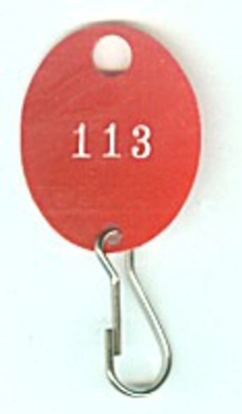 Lund 504-C Key Tag, Oval Red Numbered