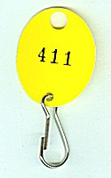 Lund 504-C Key Tag, Oval Yellow Numbered