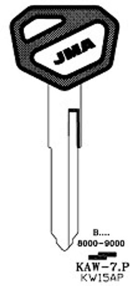 Key blank, JMA KAW7P for Kawasaki KW15AP