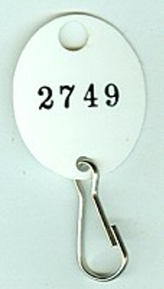 Lund 504-C Key Tag, Oval White Numbered