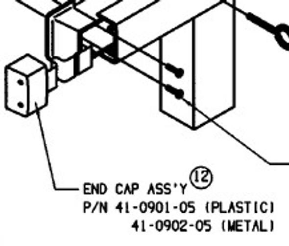 Part, End Cap fits 8400/8600 Metal