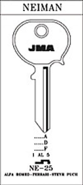 JMA NE-25 Key Blank for Neiman H61N