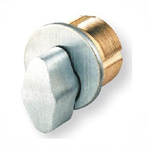 "Thumb Turn Mortise Cylinder, GMS M100T 26D, 1"" Brushed Chrome"