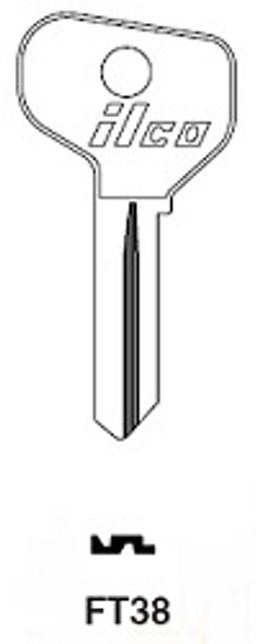 Ilco FT38 Key blank for Older Fiat, F79-3