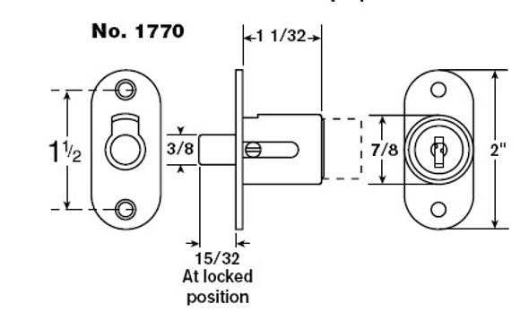 Sliding Door Lock, Chicago 1770