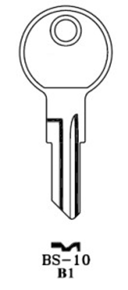 Key blank, JMA BS10E for Briggs/Strattec B1