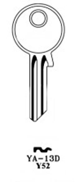 Key blank, JMA YA13DE for Yale Y52