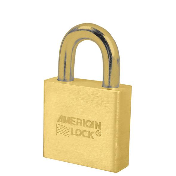 American Lock A5570B Brass Body/Brass Shackle Padlock, Keyed Different