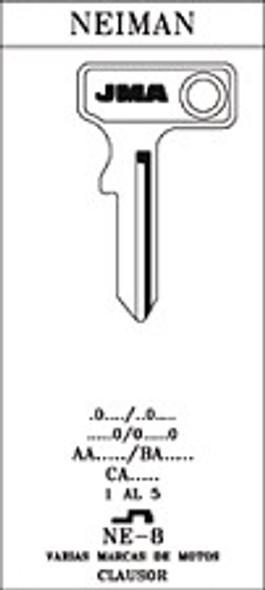 JMA NE8 key blank for Neiman