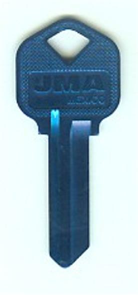 JMA KWI-1AL.DB Key Blank, Aluminum Navy Blue for Kwikset KW1