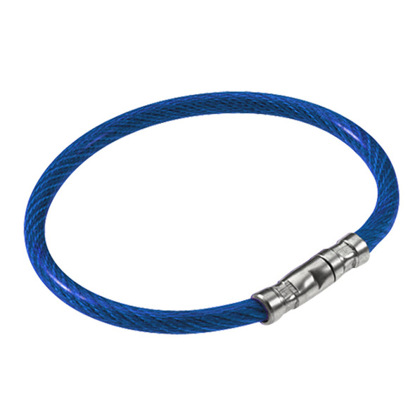 Lucky Line 0811-30 Blue Twisty Key Ring, Sold Each