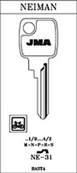 Key blank, JMA NE31 for Neiman
