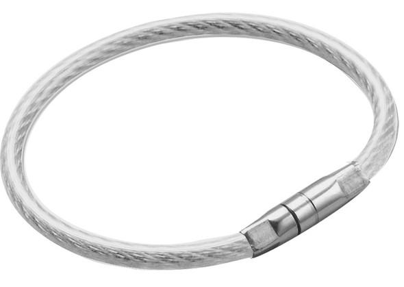 Lucky Line 0811-10 Key Ring Twisty Bulk Clear