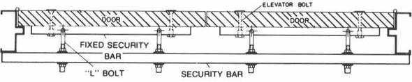 """Exit Security Bar SB-01-0060, for 60"""" Double Door"""