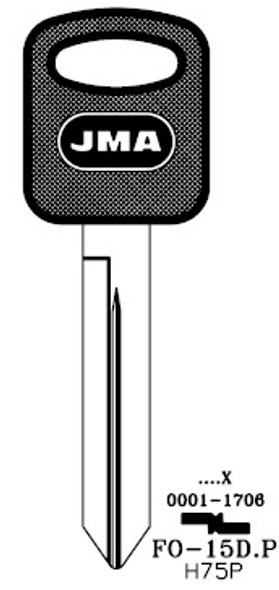 JMA FO-15DP Key Blank for Ford H75P