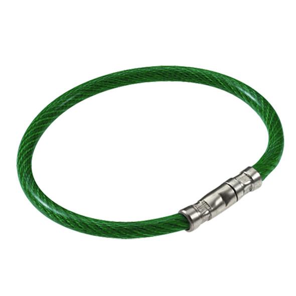 Lucky Line 811-40 Twisty Key Ring,  Bulk Green