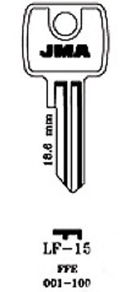 Key blank, JMA LF15 for Lowe & Fletcher LF5