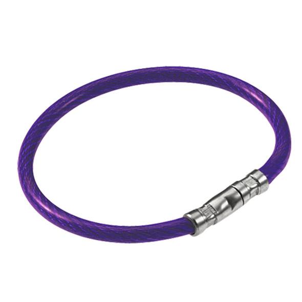 Lucky Line 811-65 Twisty Key Ring, Bulk Purple