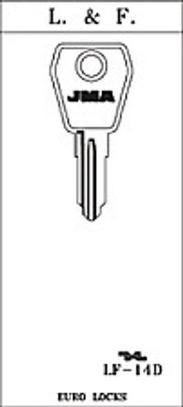 Key blank, JMA LF14D for Lowe & Fletcher