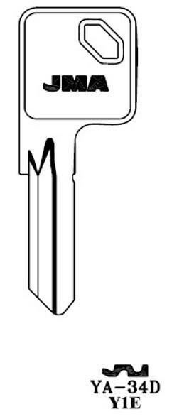 Key blank, JMA YA34D for Yale Y1E